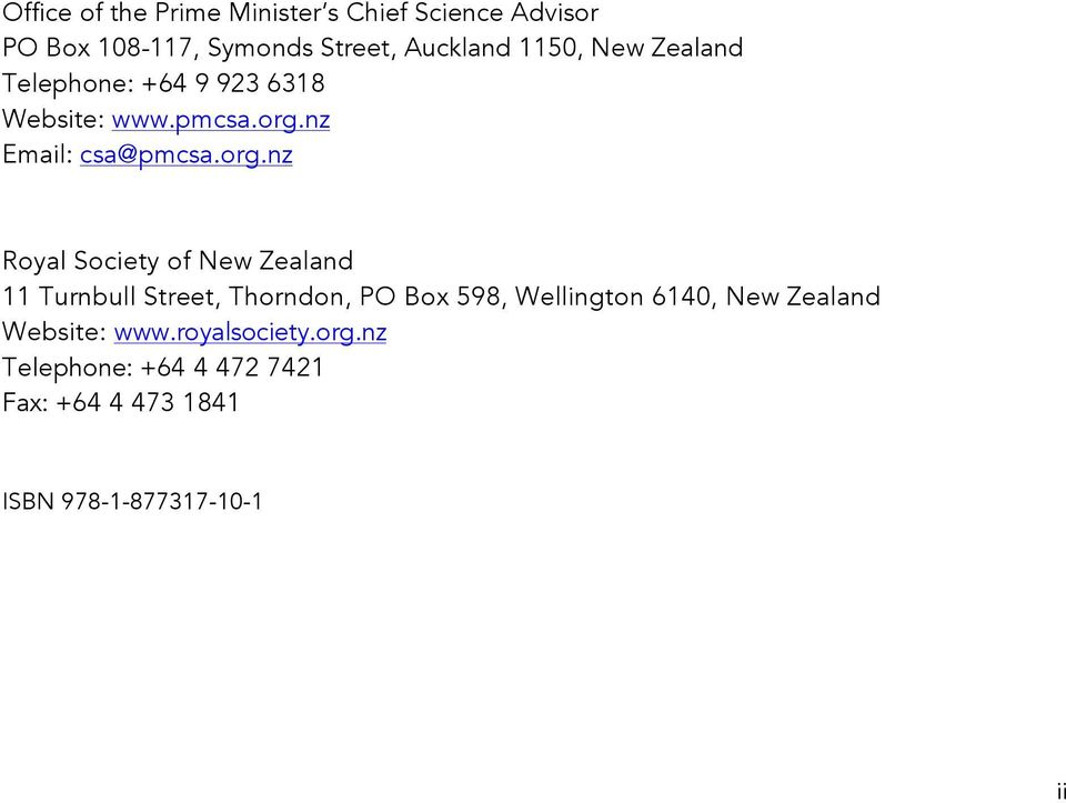 nz Email: csa@pmcsa.org.