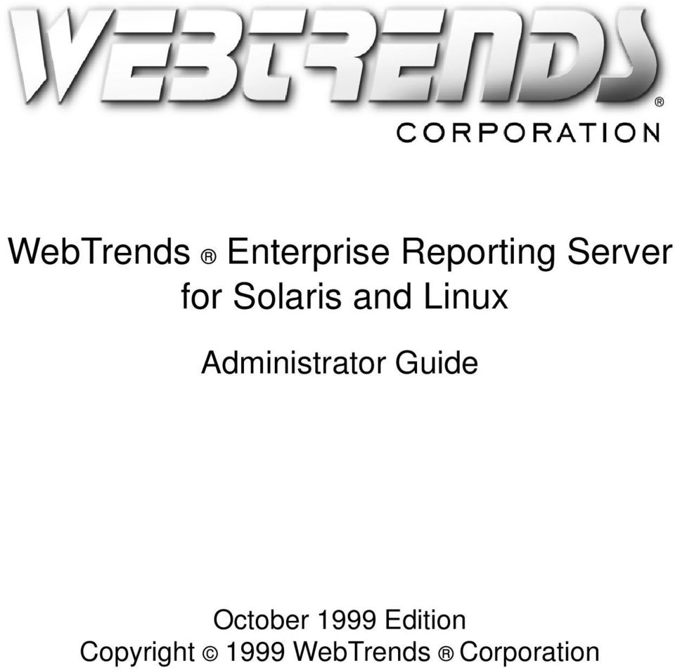 Administrator Guide October 1999