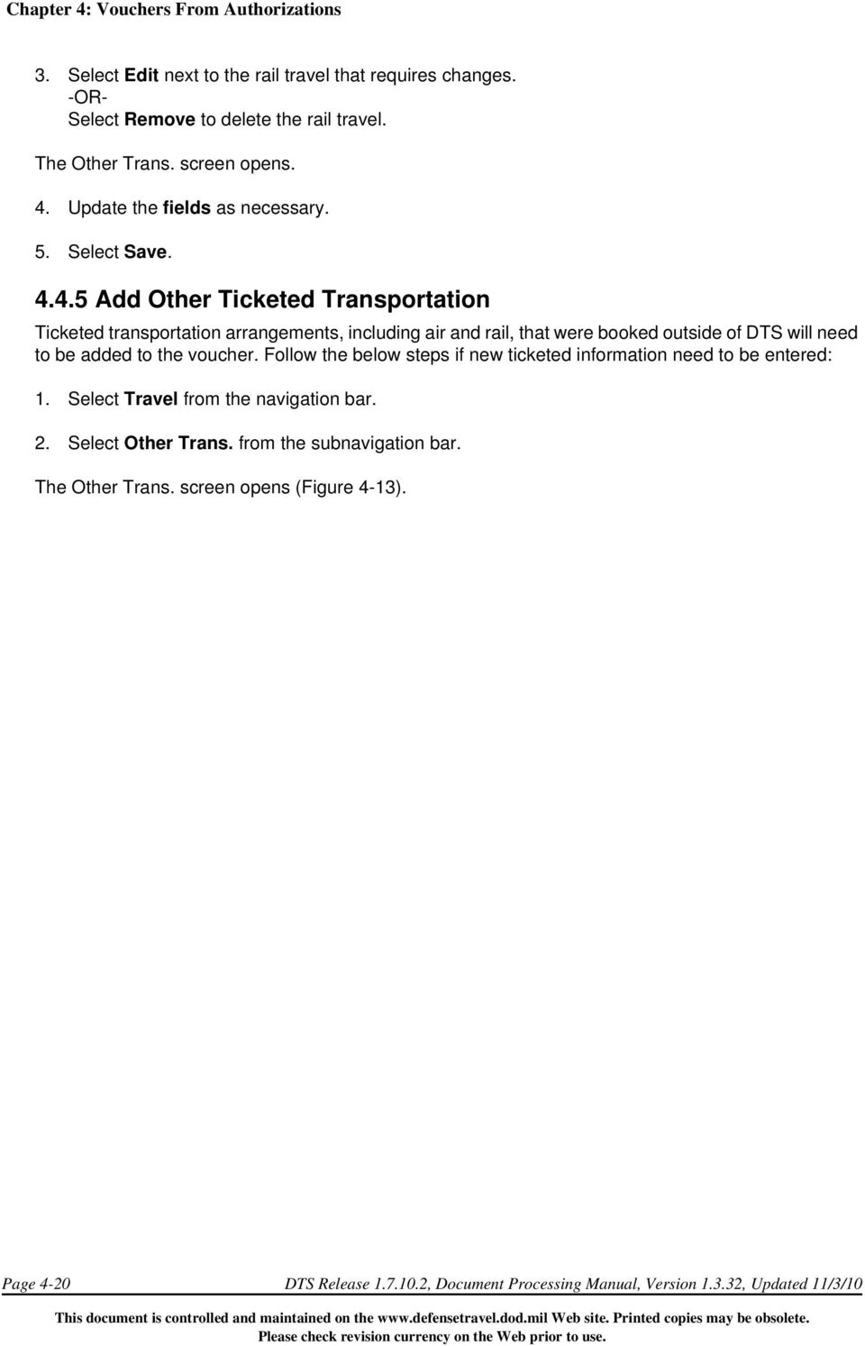 CHAPTER 4 VOUCHERS FROM AUTHORIZATIONS PDF – Constructed Travel Worksheet Dts
