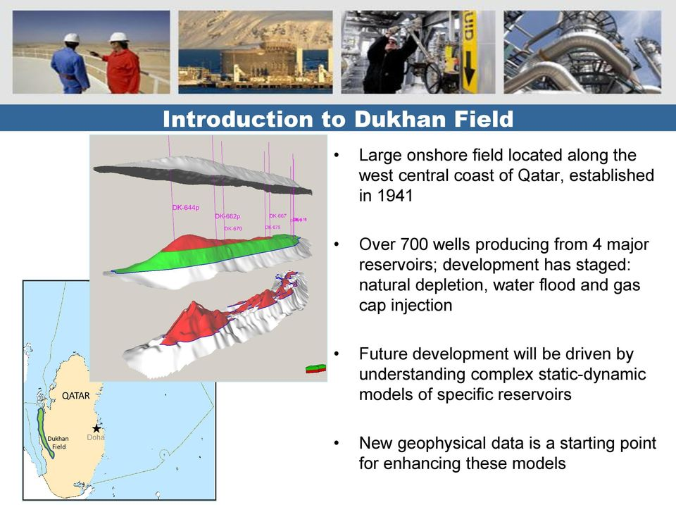 flood and gas cap injection QATAR Future development will be driven by understanding complex static-dynamic