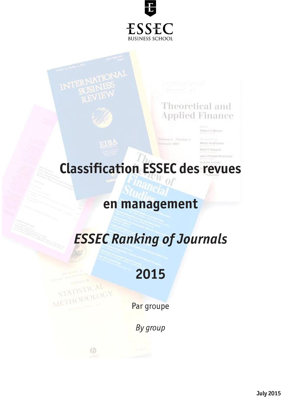 ESSEC Ranking of Journals