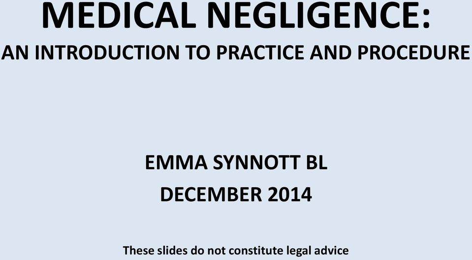 PROCEDURE EMMA SYNNOTT BL