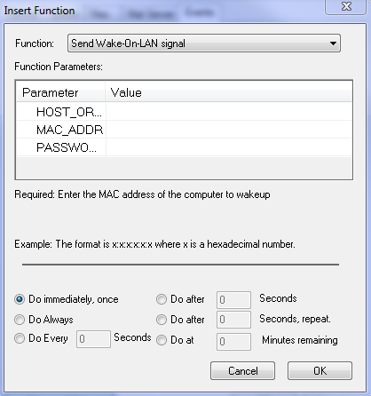Restart the RCCMD Client Restart the RCCMD Sender 3.6.10 Examples - WOL Wake On LAN This function will wake up hibernating or sleeping computers to go back online.