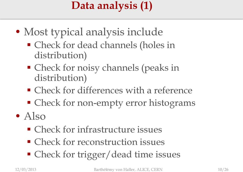 reference Check for non-empty error histograms Also Check for infrastructure issues Check for
