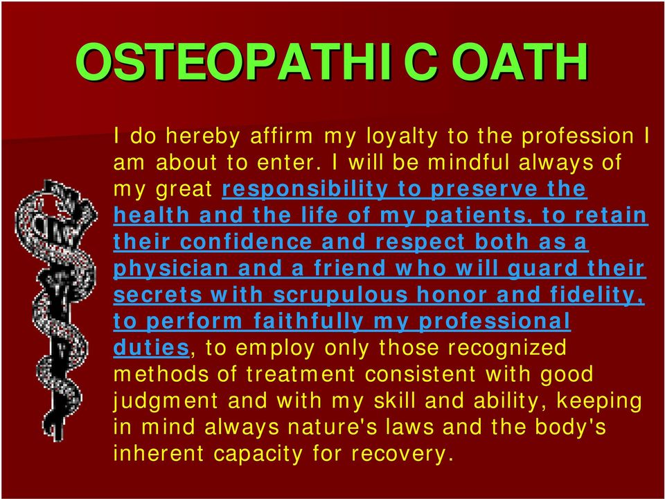 both as a physician and a friend who will guard their secrets with scrupulous honor and fidelity, to perform faithfully my professional