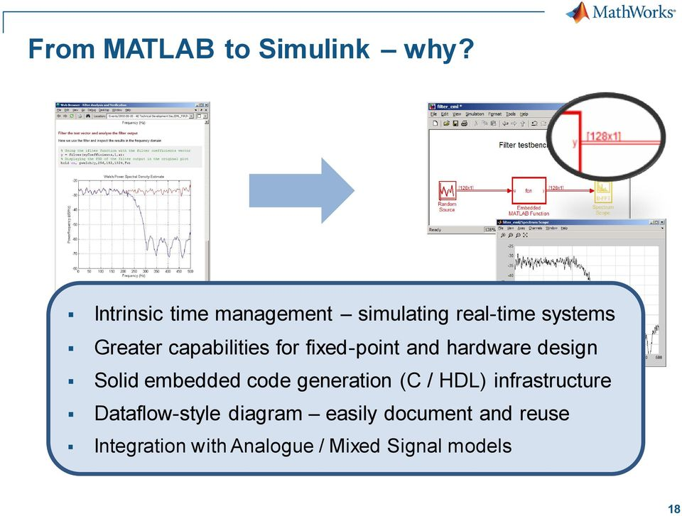 capabilities for fixed-point and hardware design Solid embedded code