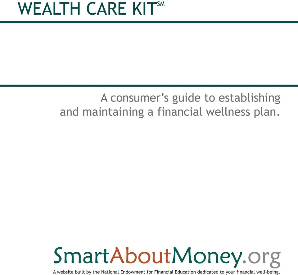 financial wellness plan.