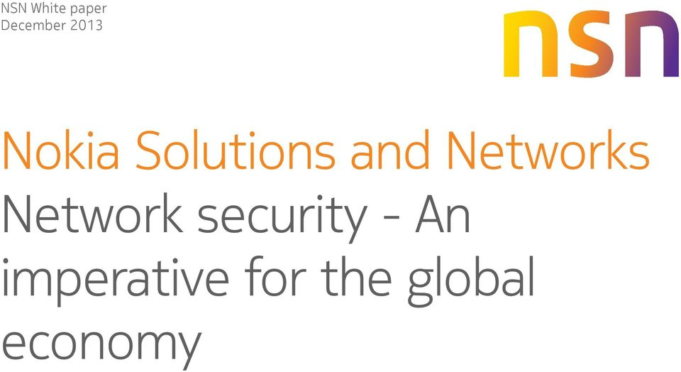 Networks Network security -