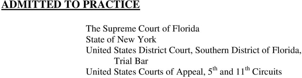 Court, Southern District of Florida, Trial Bar