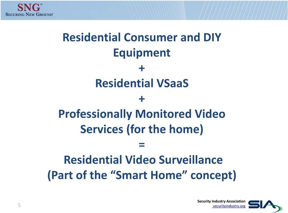 Video Services (for the home) = Residential