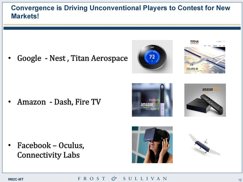 Google - Nest, Titan Aerospace Amazon -