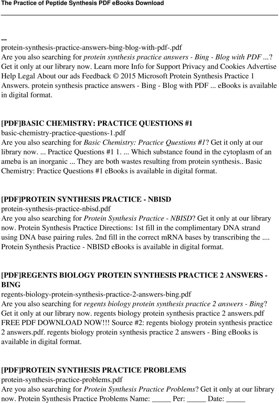 worksheet Protein Synthesis Worksheet Lesson Plans Inc 2007 the practice of peptide synthesis pdf protein answers bing blog with ebooks is available
