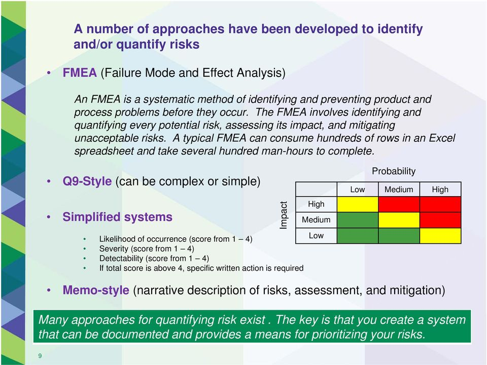 A typical FMEA can consume hundreds of rows in an Excel spreadsheet and take several hundred man-hours to complete.