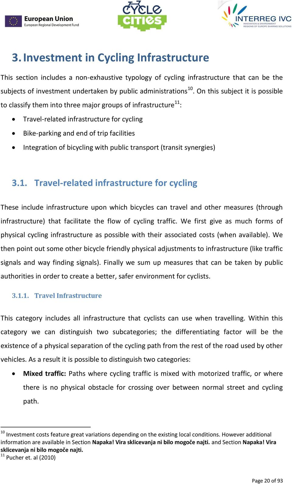 bicycling with public transport (transit synergies) 3.1.