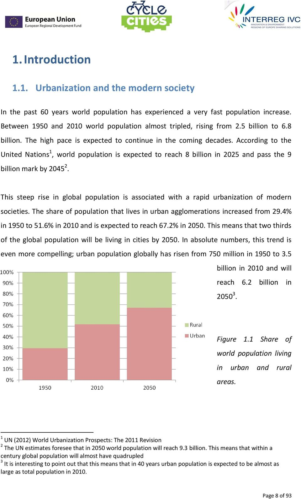 According to the United Nations 1, world population is expected to reach 8 billion in 2025 and pass the 9 billion mark by 2045 2.