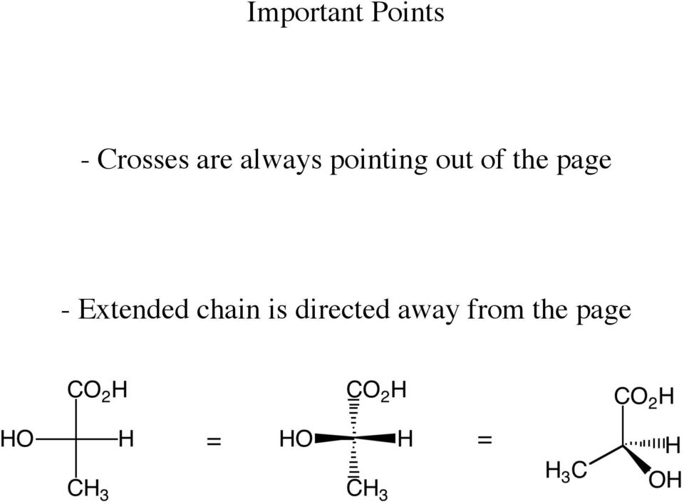 substituents are coming out or going into the page It