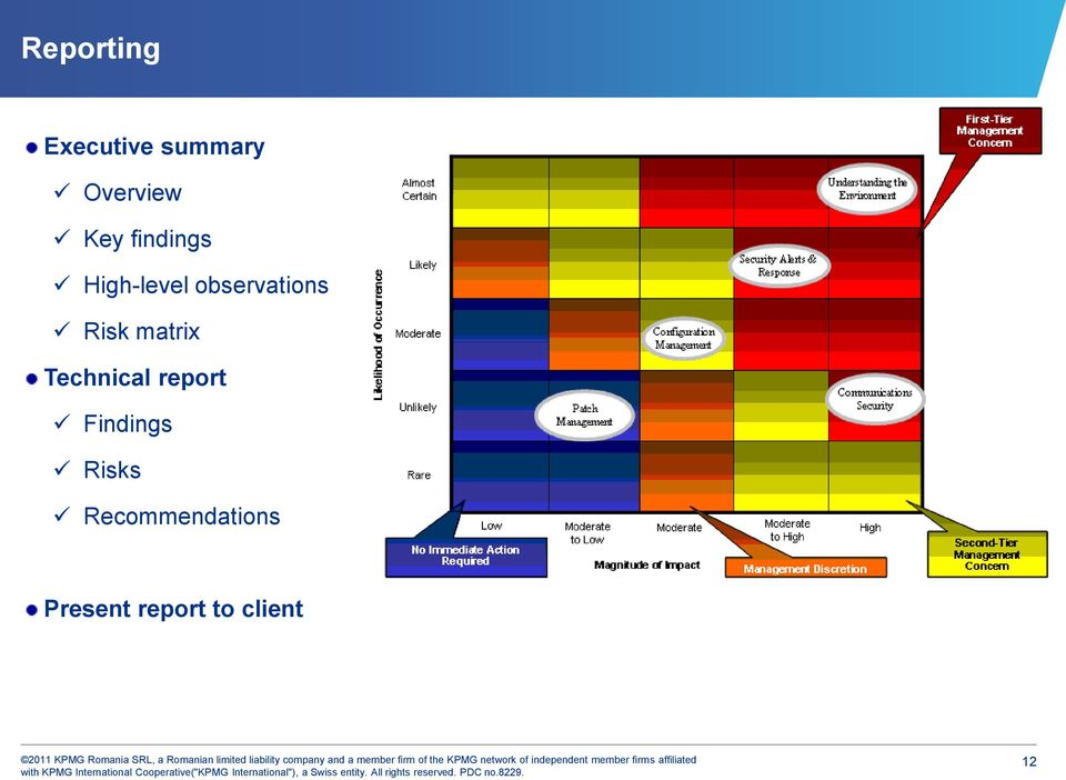 matrix Technical report Findings Risks