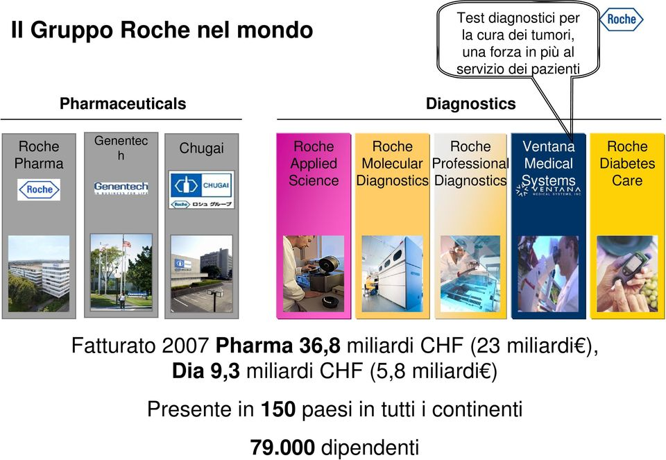 Molecular Professional Diagnostics Diagnostics Ventana Medical Systems Roche Diabetes Care Fatturato 2007