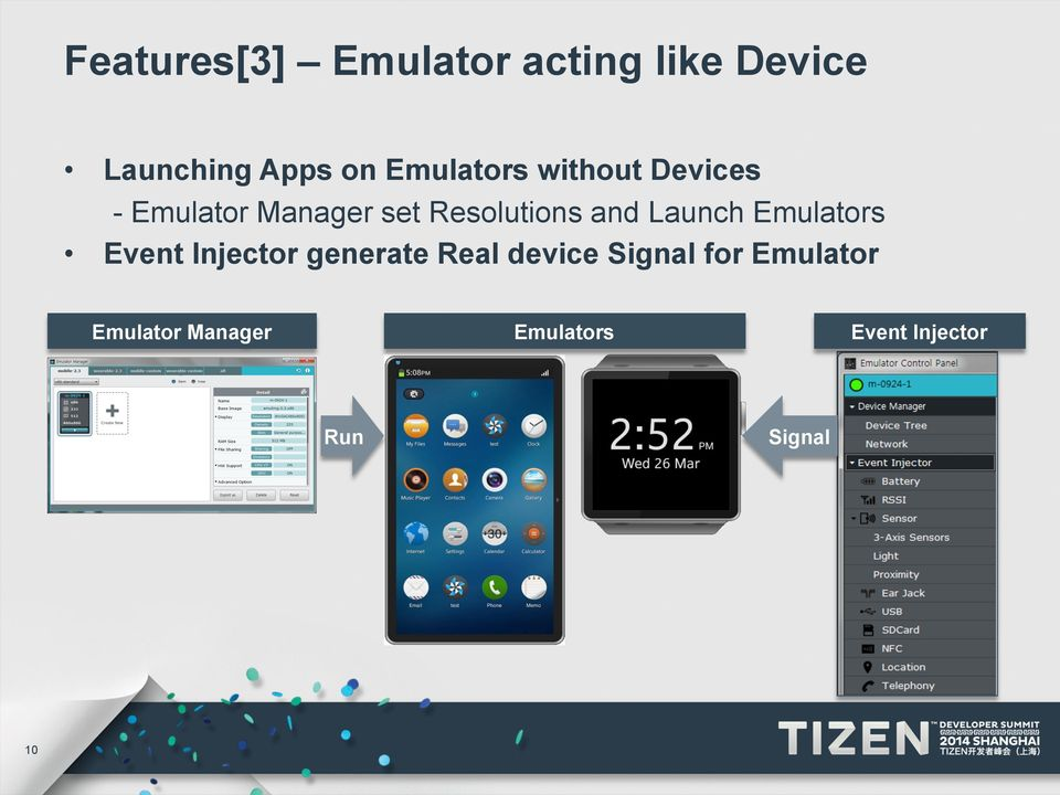 and Launch Emulators Event Injector generate Real device