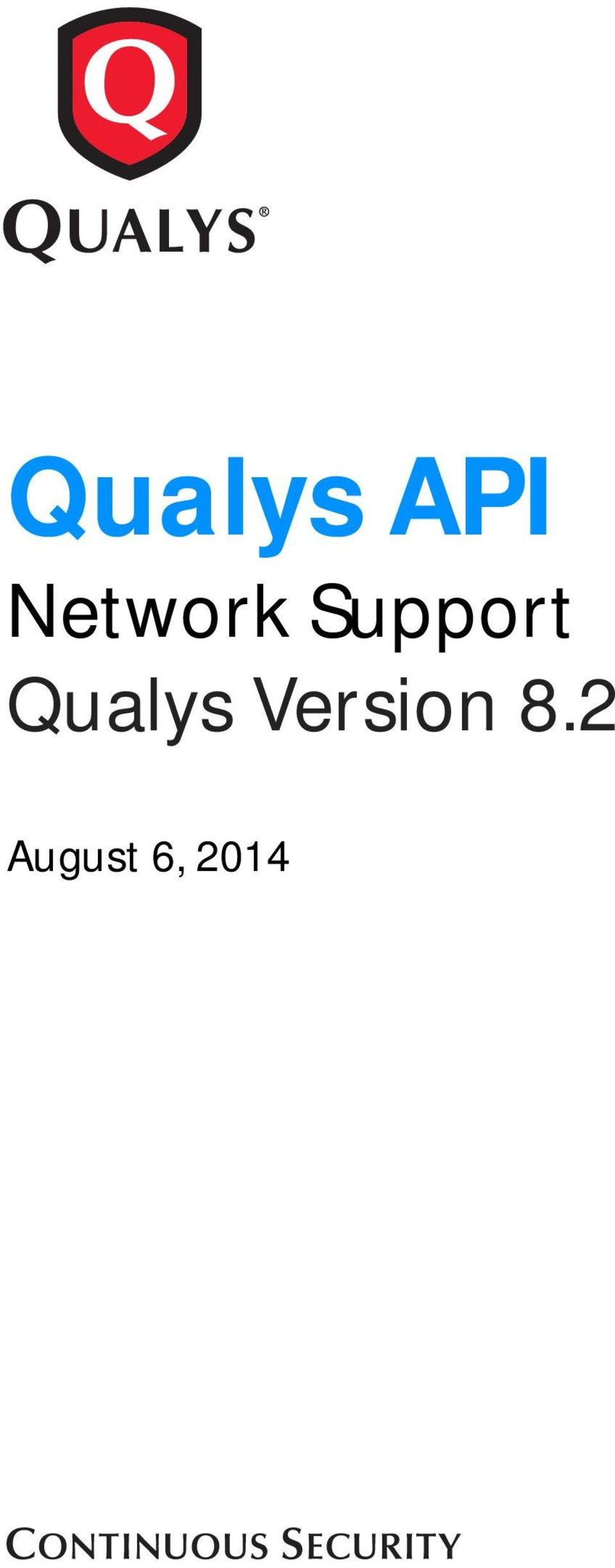Support Qualys