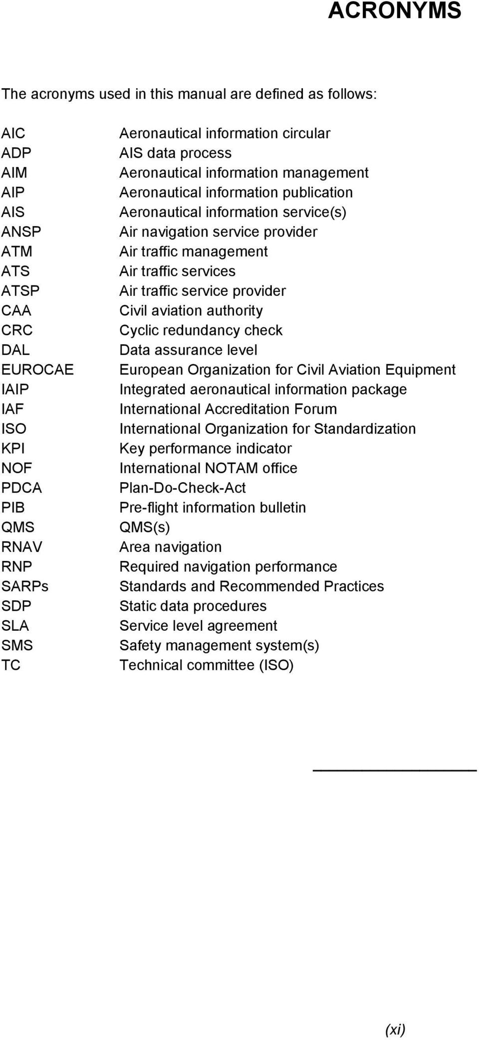 Manual on the Quality Management System for Aeronautical Information ...
