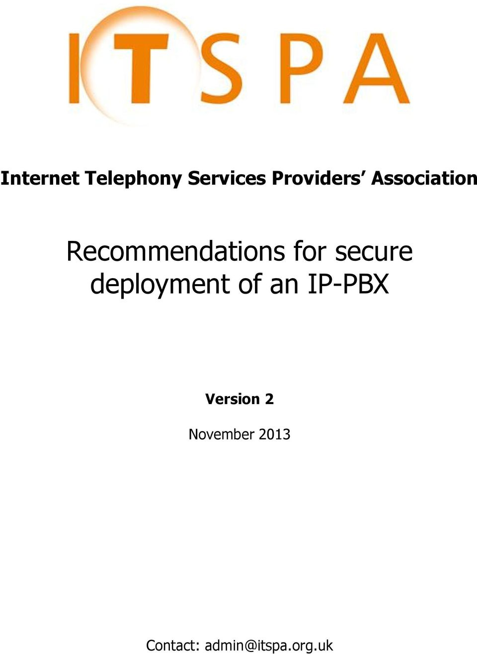 secure deployment of an IP-PBX