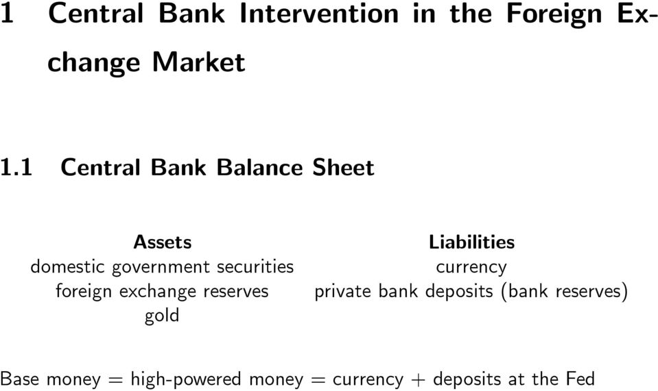 foreign exchange reserves gold Liabilities currency private bank