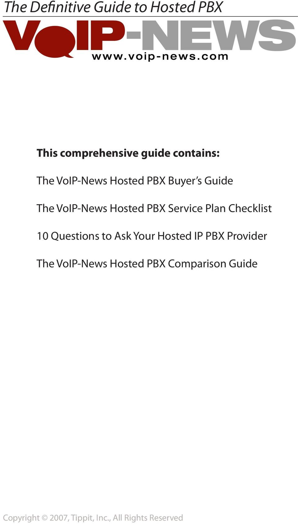 Checklist 10 Questions to Ask Your Hosted IP PBX Provider The VoIP-News