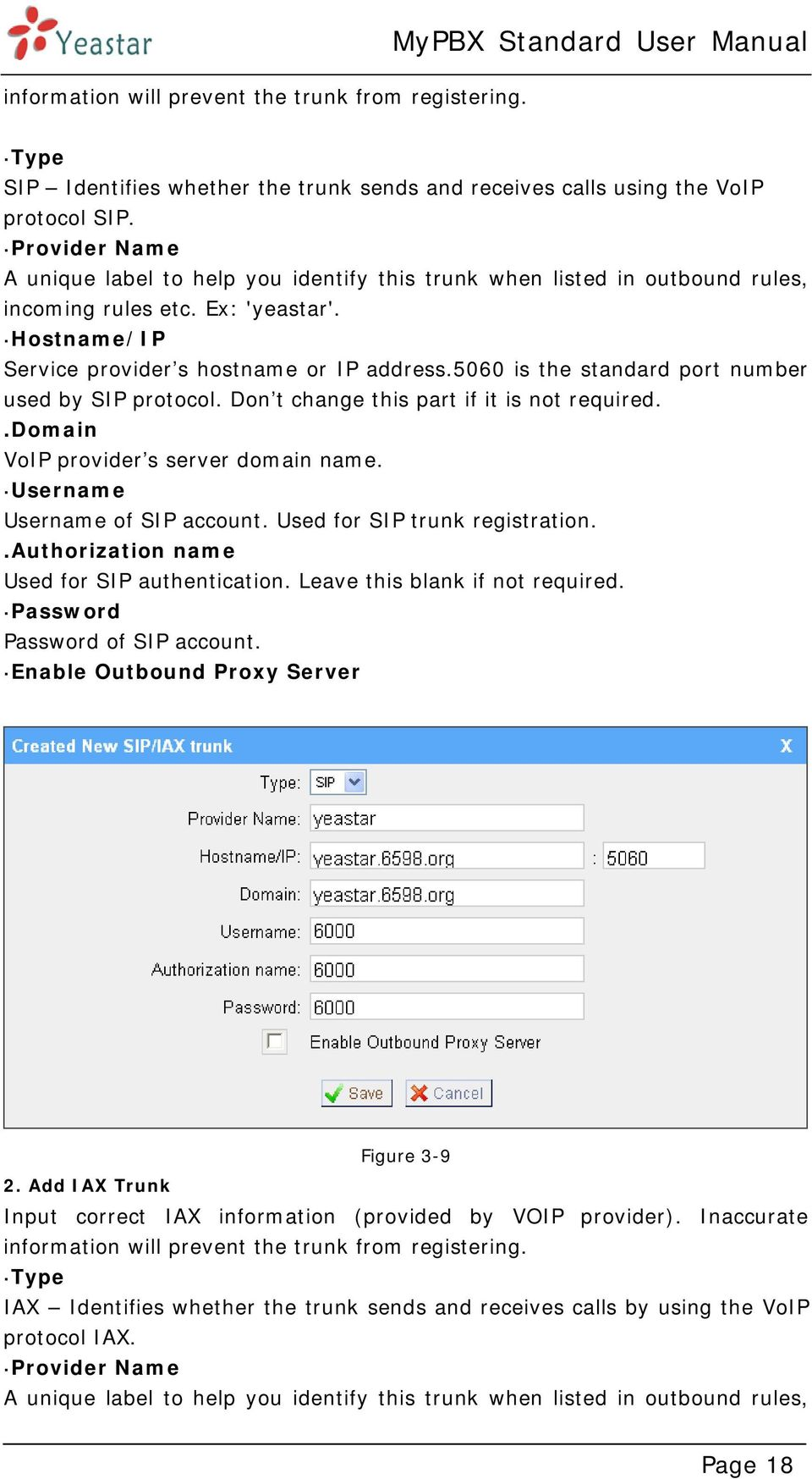 5060 is the standard port number used by SIP protocol. Don t change this part if it is not required..domain VoIP provider s server domain name. Username Username of SIP account.