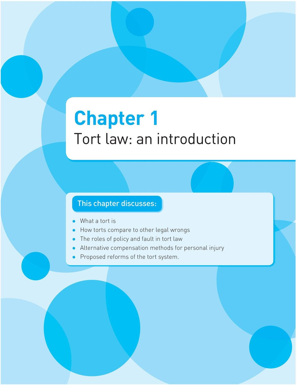 roles of policy and fault in tort law Alternative