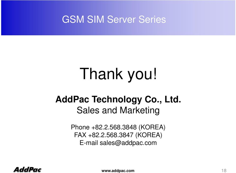 Sales and Marketing Phone +82.2.568.
