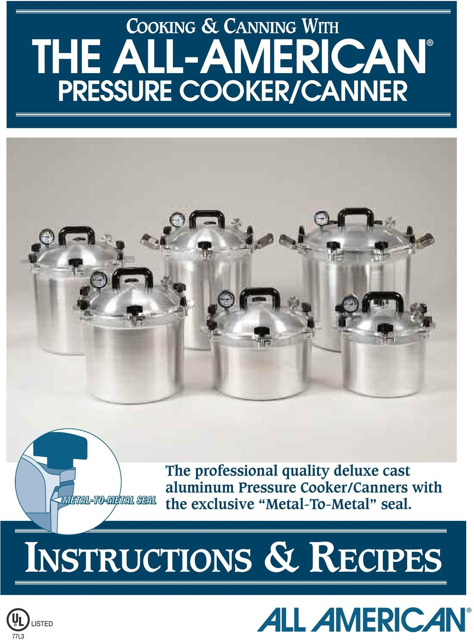 cast aluminum Pressure Cooker/Canners with the