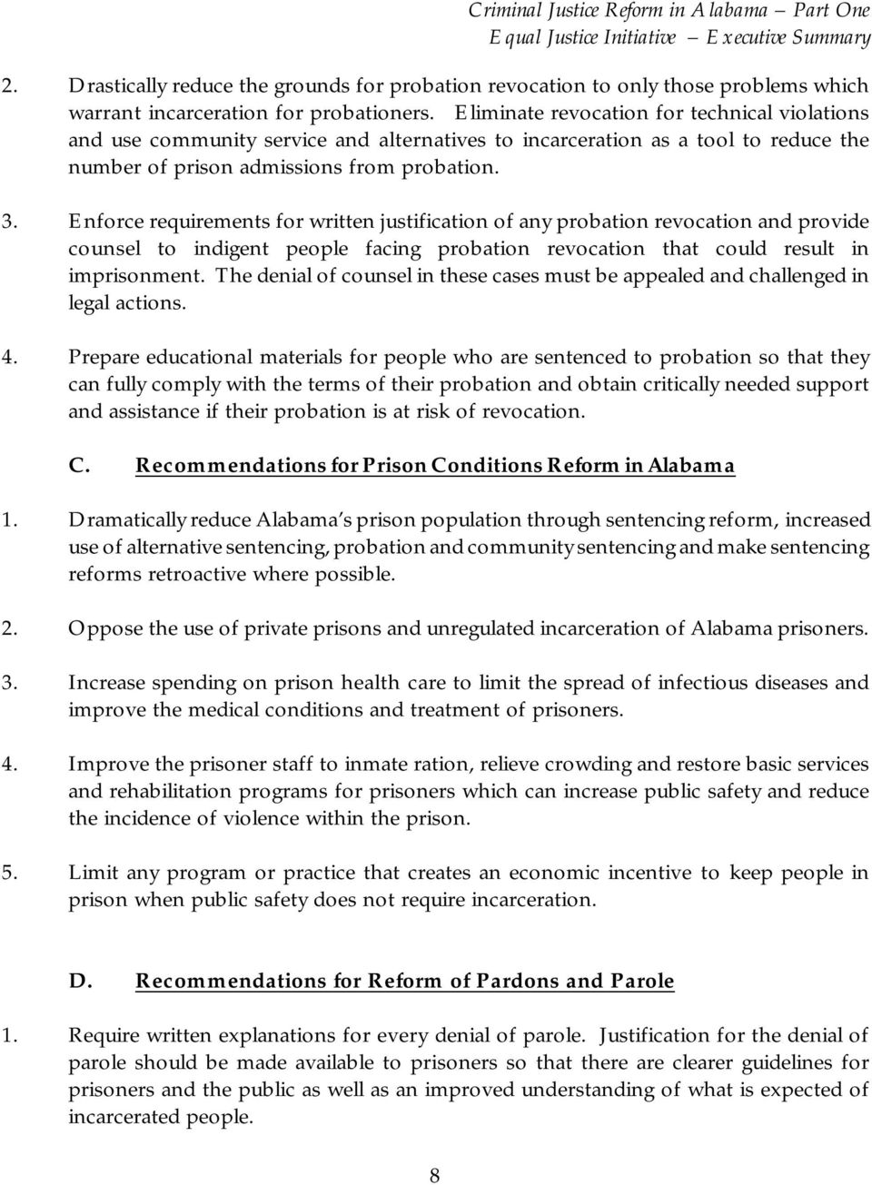 Enforce requirements for written justification of any probation revocation and provide counsel to indigent people facing probation revocation that could result in imprisonment.