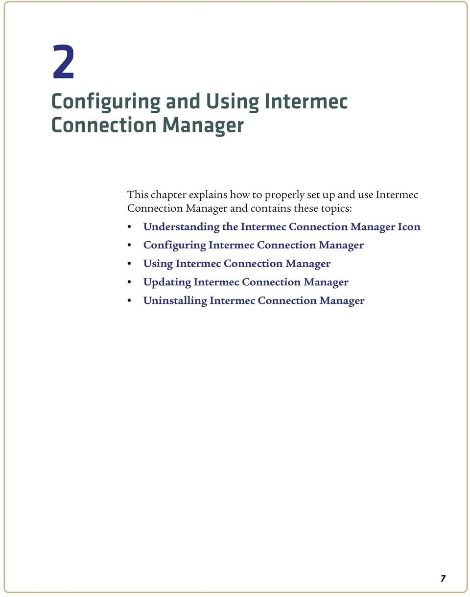 Intermec Connection Manager Icon Configuring Intermec Connection Manager Using Intermec