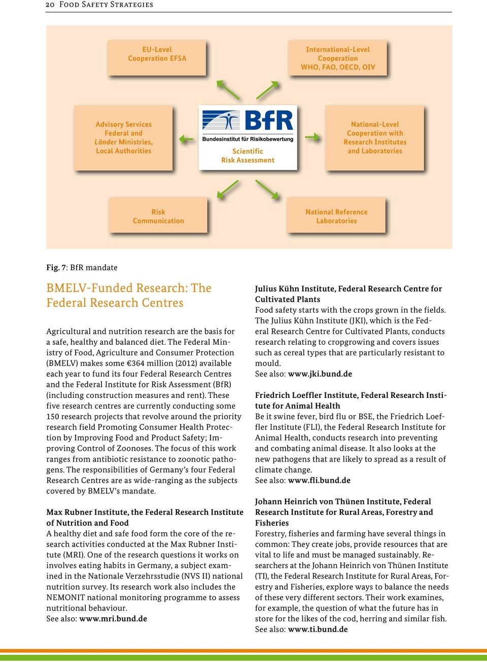 7: BfR mandate BMELV-Funded Research: The Federal Research Centres Agricultural and nutrition research are the basis for a safe, healthy and balanced diet.