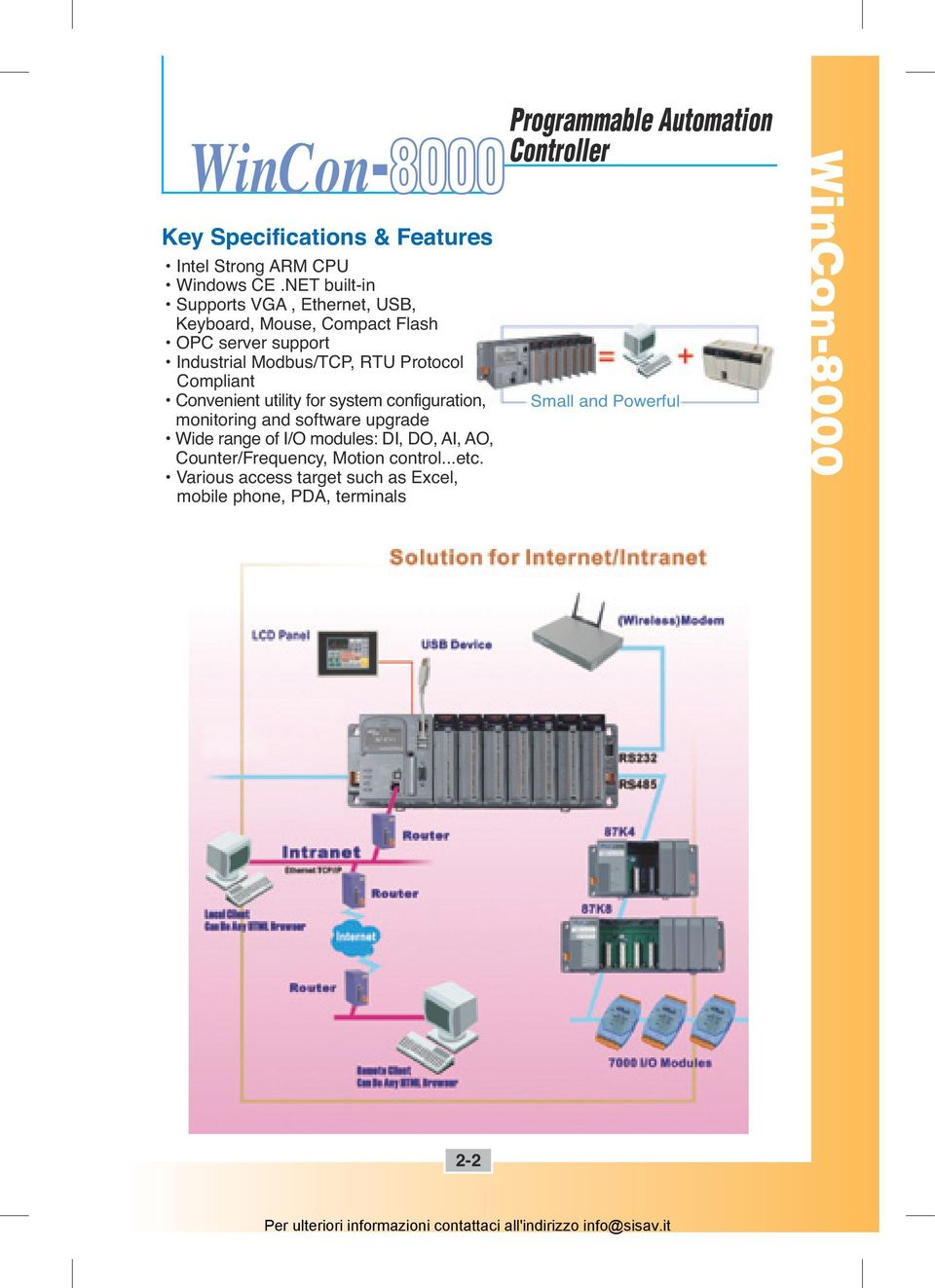 Protocol Compliant Convenient utility for system configuration, monitoring and software upgrade Wide range of I/O