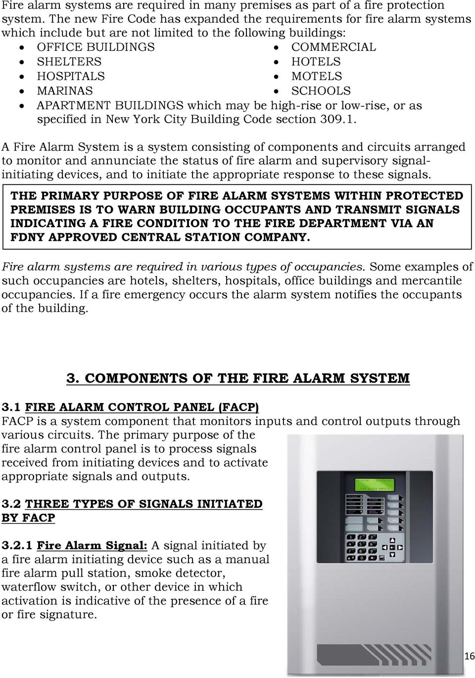 fire alarm system requirements