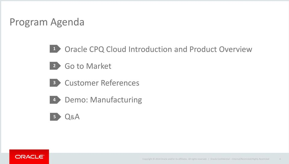 Manufacturing Q&A Copyright 2014 Oracle and/or its affiliates.