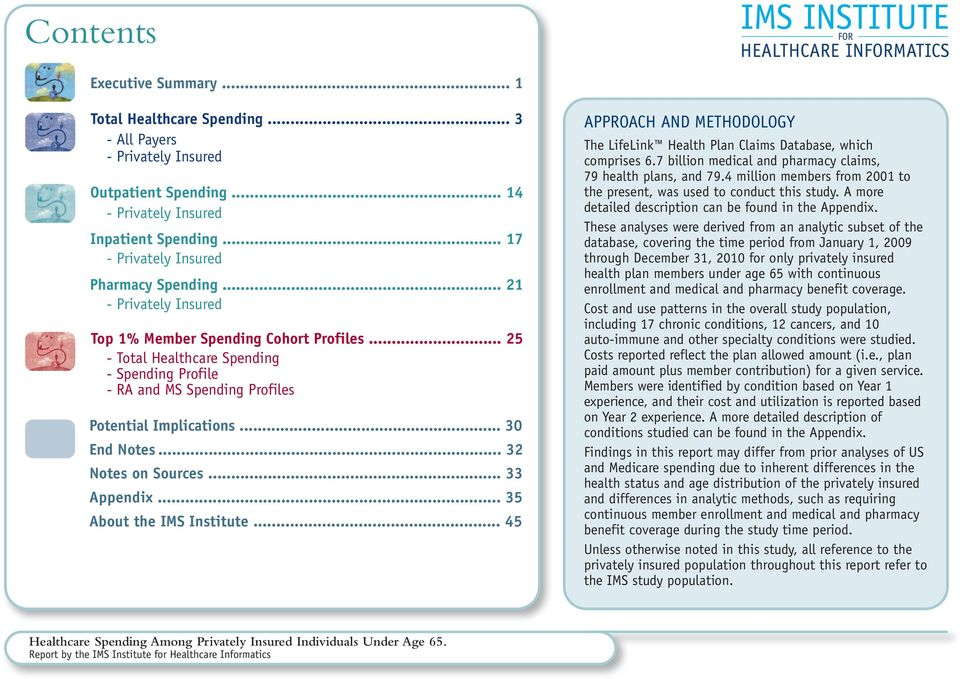 .. 25 - Total Healthcare Spending - Spending Profile - RA and MS Spending Profiles Potential Implications... 30 End Notes... 32 Notes on Sources... 33 Appendix... 35 About the IMS Institute.