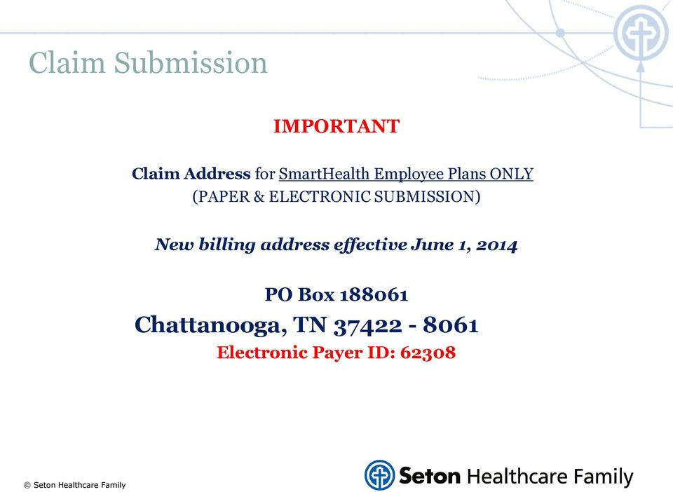 SUBMISSION) New billing address effective June 1, 2014