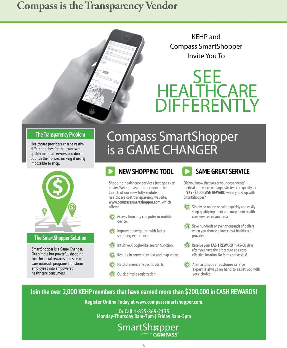 Compass SmartShopper is a GAME CHANGER NEW SHOPPING TOOL SAME GREAT SERVICE The SmartShopper Solution SmartShopper is a Game Changer.