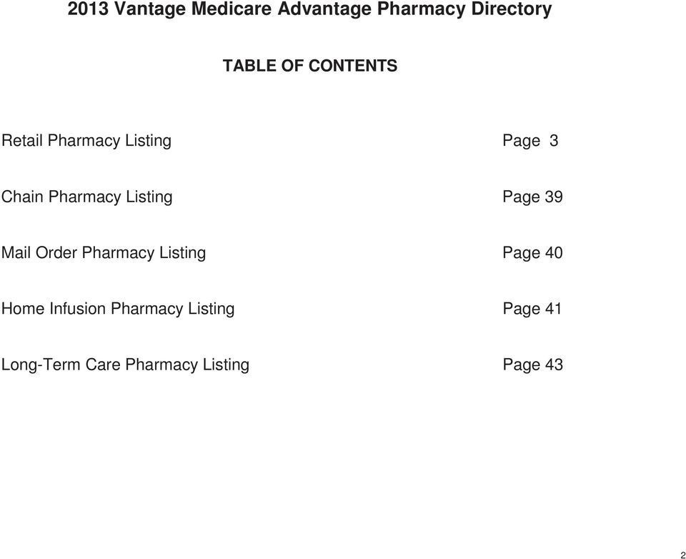 Listing Page 39 Mail Order Pharmacy Listing Page 40 Home