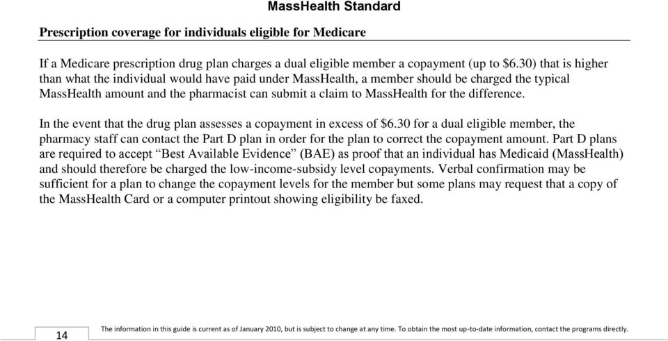 difference. In the event that the drug plan assesses a copayment in excess of $6.