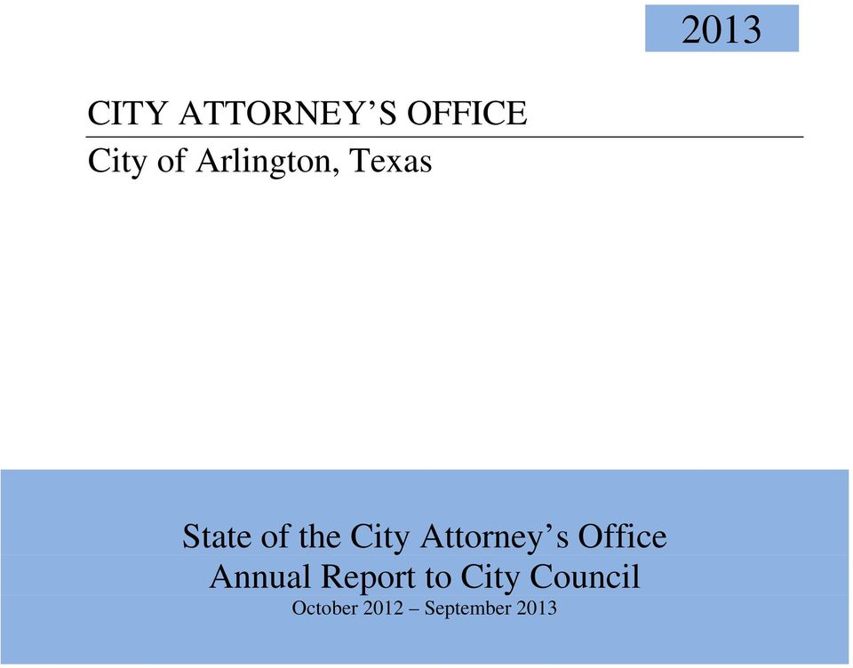Attorney s Office Annual Report to