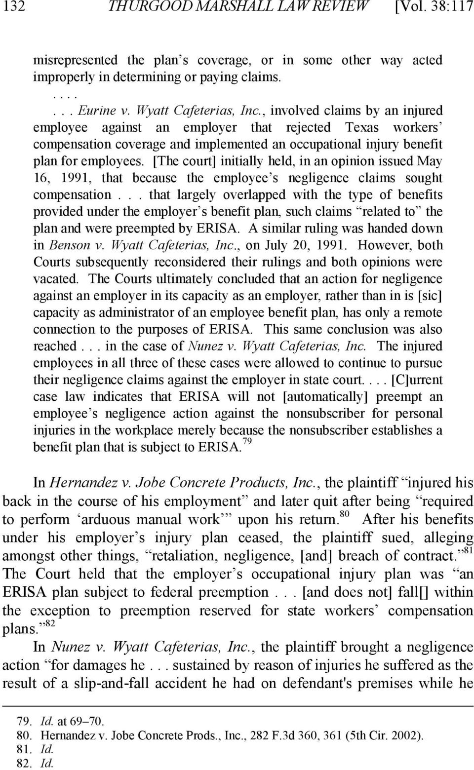 [The court] initially held, in an opinion issued May 16, 1991, that because the employee s negligence claims sought compensation.