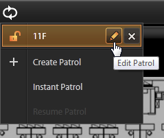 On View Tool Bar, click then Create Patrol. 1. Input the Patrol Name 2. Select the Patrol Type to be open to all Users or to the creator s account 3. Define the Global Dwell Time between the views.