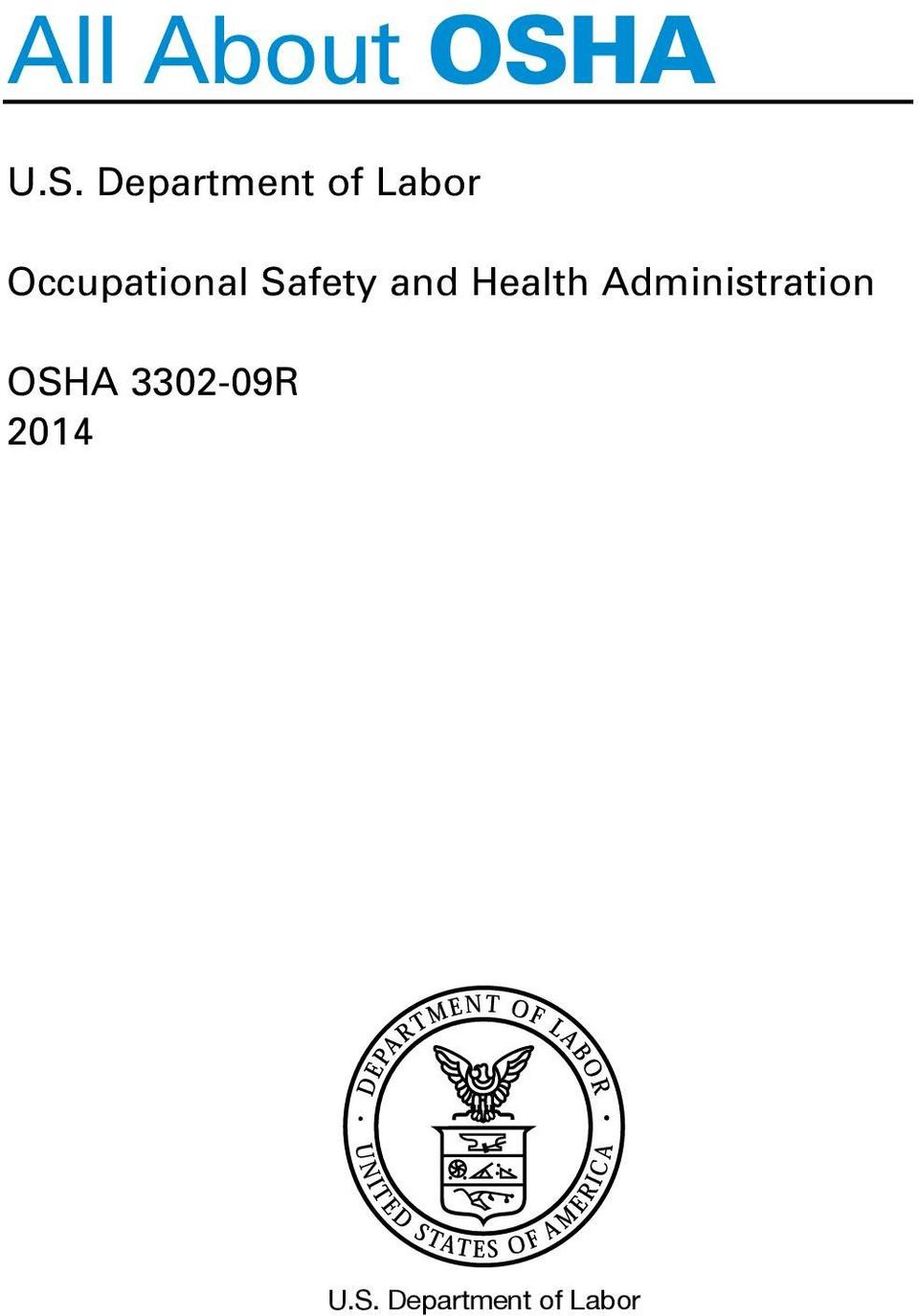 Department of Labor Occupational