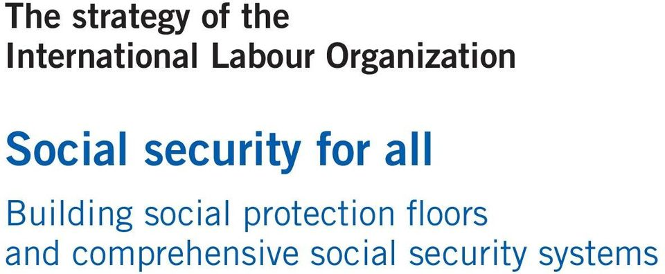 for all Building social protection
