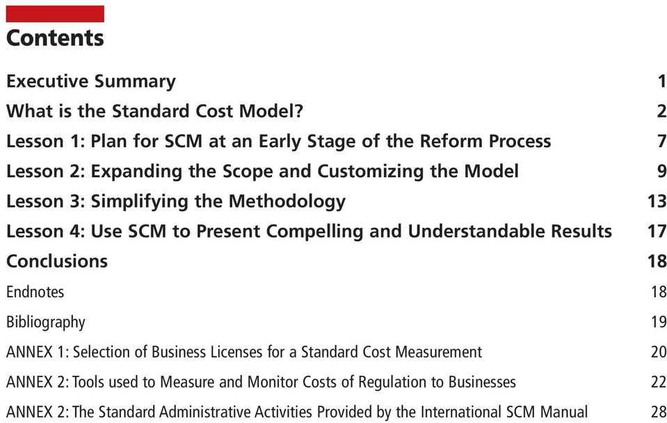the Methodology 13 Lesson 4: Use SCM to Present Compelling and Understandable Results 17 Conclusions 18 Endnotes 18 Bibliography 19 ANNEX 1: