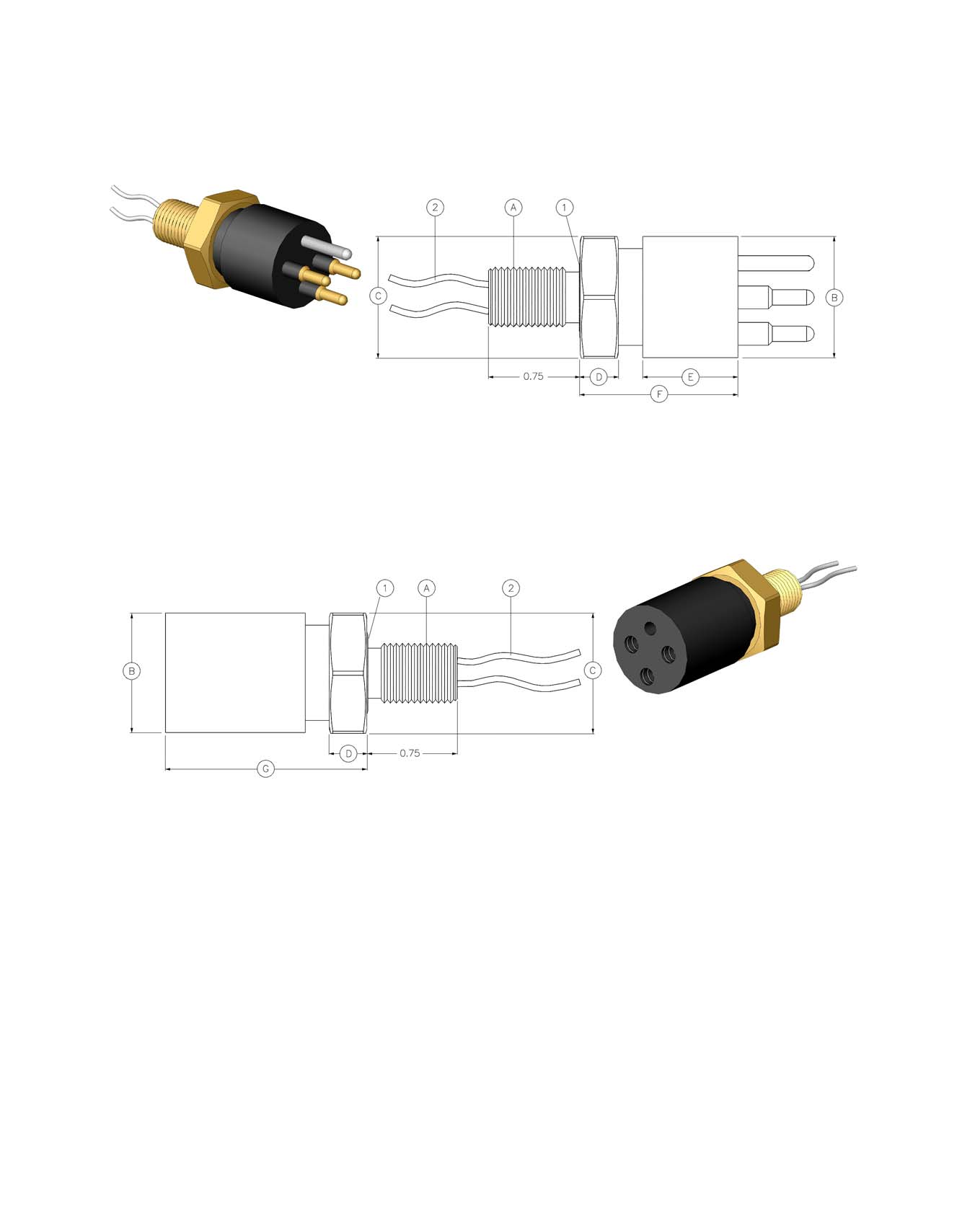 ^iijtbqround SERIES DIMENSION DETAILS AW-P-BC with Ground (w/g) ^iijtbq Round Bulkhead Connector Mates with AW-FS Dummy Connector: AW-FSD AW-S-BC with Ground (w/g) ^iijtbq Round Bulkhead Connector